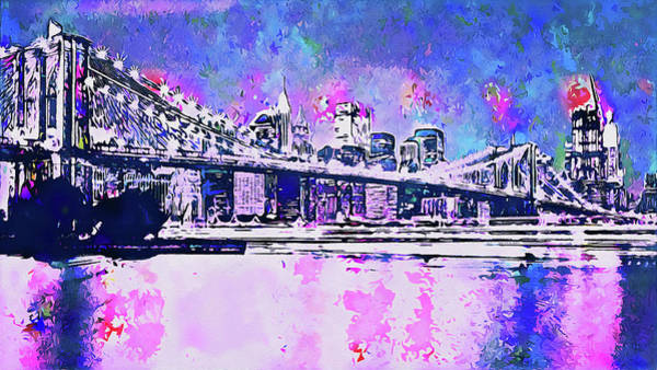 Painting - New York Panorama - 63 by Andrea Mazzocchetti