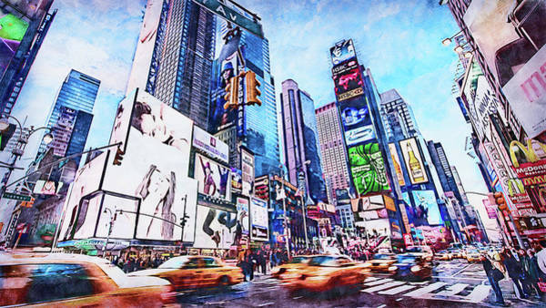 Painting - New York Panorama - 65 by Andrea Mazzocchetti