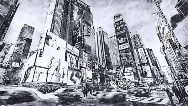 Painting - New York Panorama - 66 by Andrea Mazzocchetti