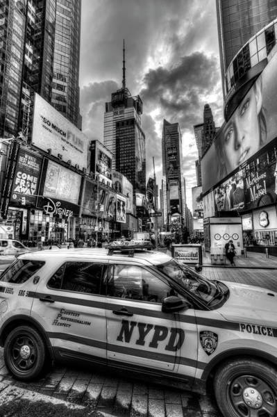 Wall Art - Photograph - New York Police Times Square by David Pyatt
