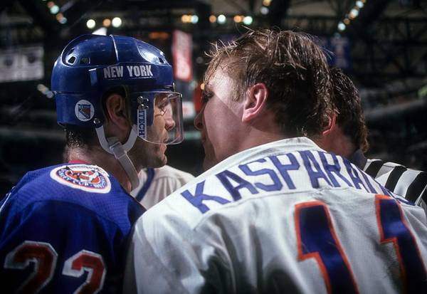 Ice Hockey Photograph - New York Rangers V New York Islanders by B Bennett