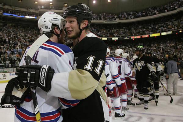 Nhl Photograph - New York Rangers V Pittsburgh Penguins by Bruce Bennett
