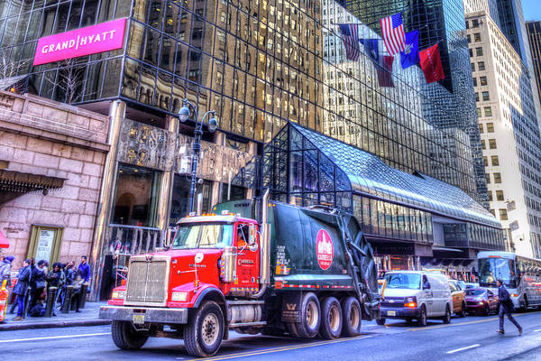 Wall Art - Photograph - New York Refuse Truck by David Pyatt