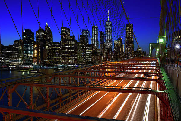 Photograph - New York Skyline From The Brooklyn Bridge by Clint Buhler
