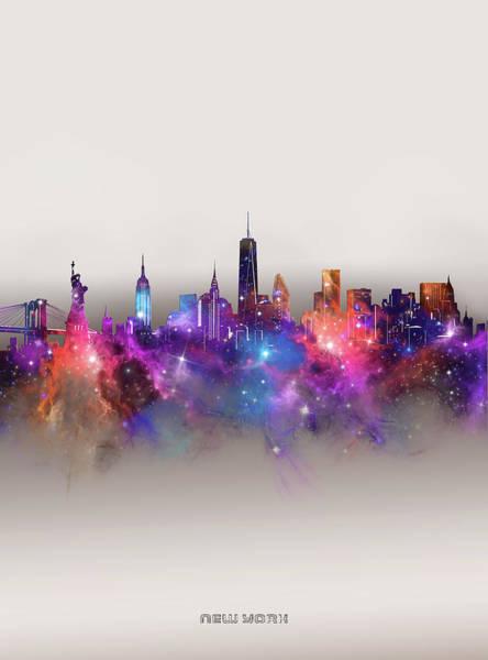 Wall Art - Digital Art - New York Skyline Galaxy by Bekim M