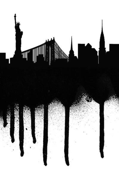 Painting - New York Spray Paint Graffiti by Tony Rubino