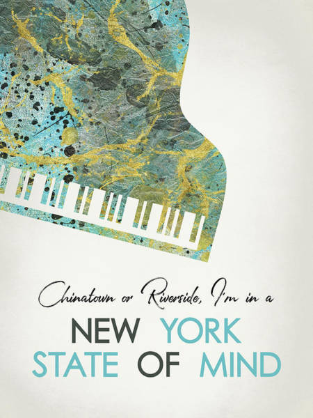 Wall Art - Digital Art - New York State Of Mind  - Piano by Flo Karp