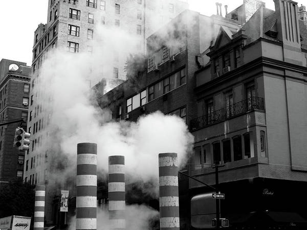 Art Print featuring the photograph New York, Steam by Edward Lee