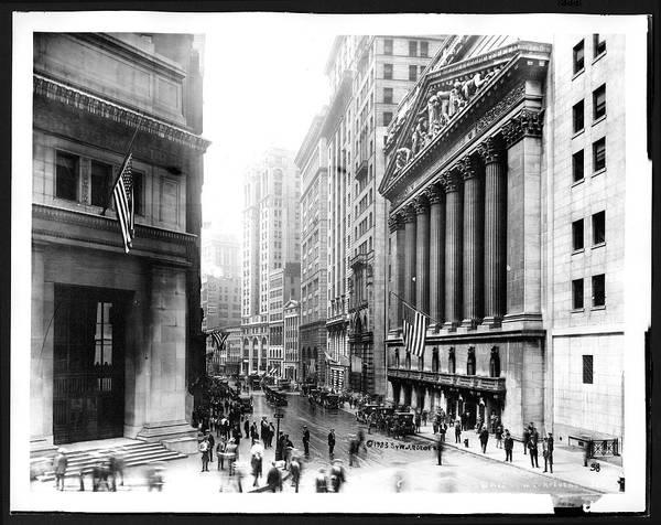 New York Stock Exchange Wall Art - Photograph - New York Stock Exchange And Broad Street by The New York Historical Society