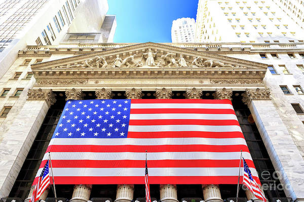 New York Stock Exchange Wall Art - Photograph - New York Stock Exchange Manhattan by John Rizzuto