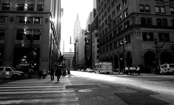 Art Print featuring the photograph New York, Street by Edward Lee