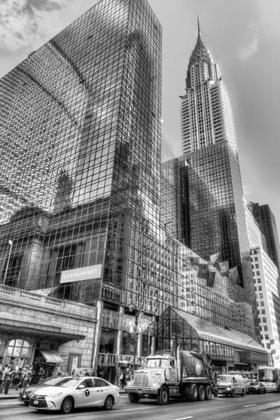 Wall Art - Photograph - New York Street Scene Monochrome by David Pyatt
