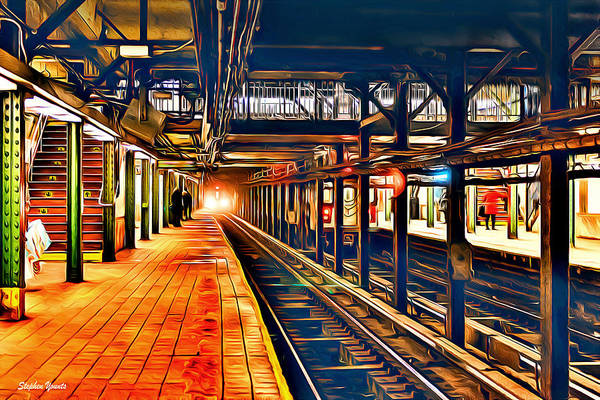 Wall Art - Digital Art - New York Subway Station by Stephen Younts