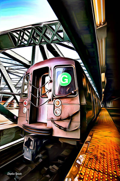 Wall Art - Digital Art - New York Subway by Stephen Younts