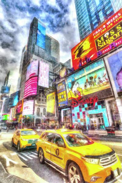 Wall Art - Photograph - New York Taxicabs Art by David Pyatt