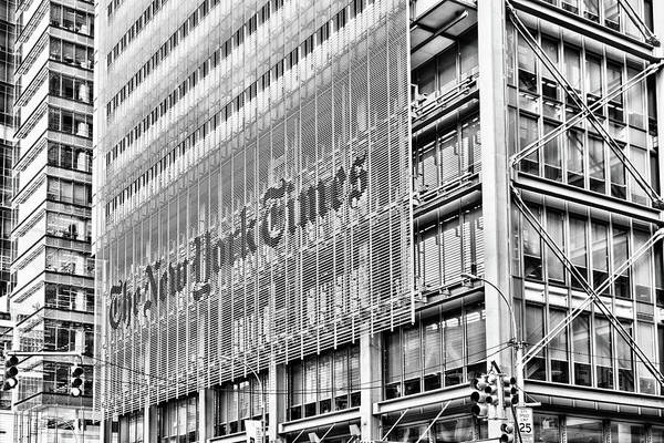 Photograph - New York Times Building by Sharon Popek