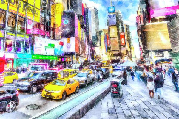Wall Art - Photograph - New York Times Square Art by David Pyatt