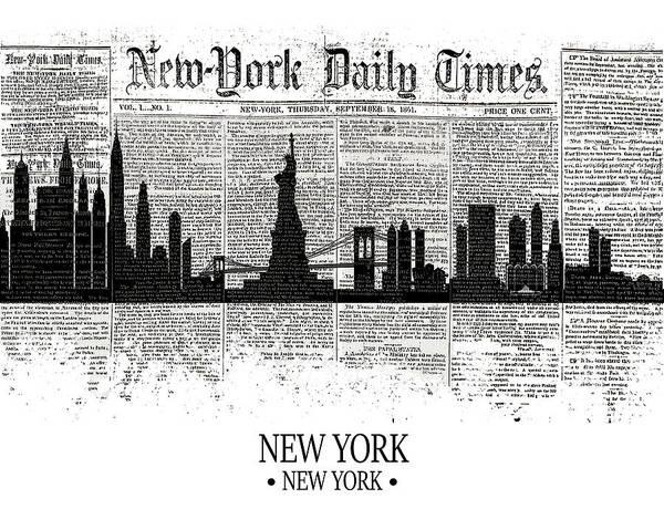 City Scape Digital Art - New York Times by Tim Palmer