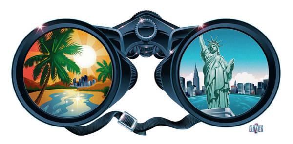 Wall Art - Digital Art - New York To Florida Vacation by Garth Glazier