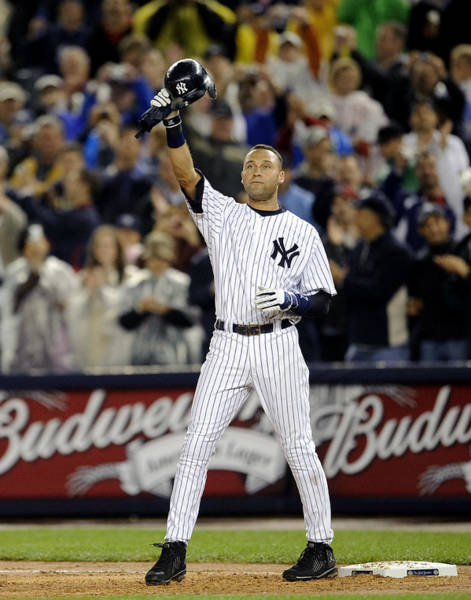 Photograph - New York Yankees Derek Jeter Breaks Lou by New York Daily News Archive