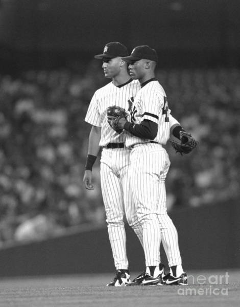 Photograph - New York Yankees Mariano Rivera Talking by New York Daily News Archive