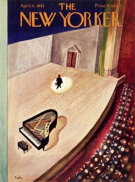 Performer Painting - New Yorker April 11th 1942 by Susanne Suba