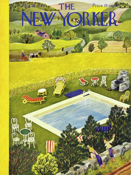 Painting - New Yorker August 10 1946 by Ilonka Karasz