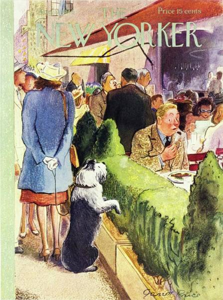 Restaurant Painting - New Yorker August 17th 1946 by Garrett Price