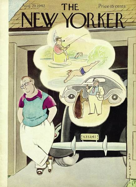 Summertime Painting - New Yorker August 29th 1942 by Rea Irvin