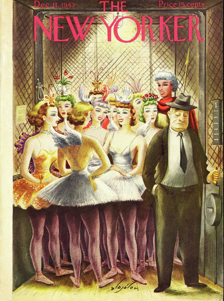 Ballet Painting - New Yorker December 11th 1943 by Constantin Alajalov