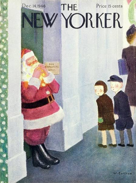 Illustration Painting - New Yorker December 14th 1946 by William Cotton