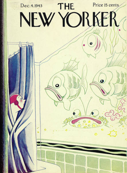 Curtain Painting - New Yorker December 4th 1943 by Rea Irvin