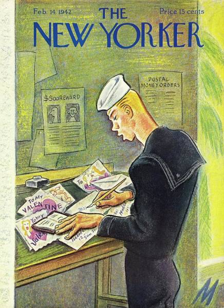 Book Illustration Painting - New Yorker February 14th 1942 by Julian De Miskey