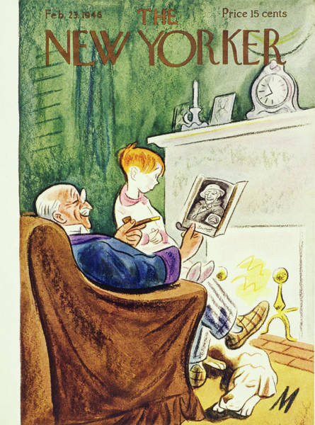 Military Painting - New Yorker February 23rd 1946 by Julian De Miskey