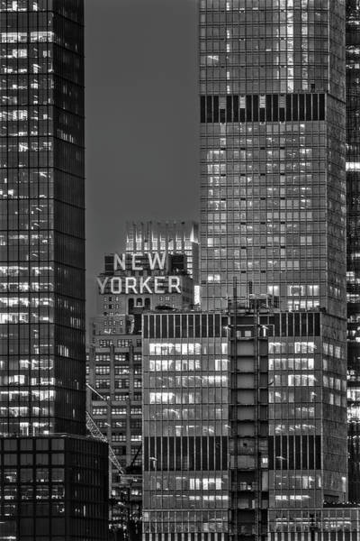 Photograph - New Yorker Hotel Nyc Bw by Susan Candelario