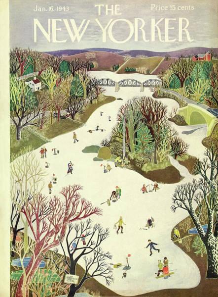 Ice Painting - New Yorker January 16th 1943 by Ilonka Karasz