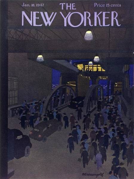 Painting - New Yorker January 18, 1947 by Arthur K Kronengold