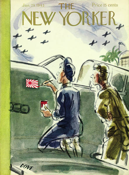 Military Painting - New Yorker January 23rd 1943 by Leonard Dove