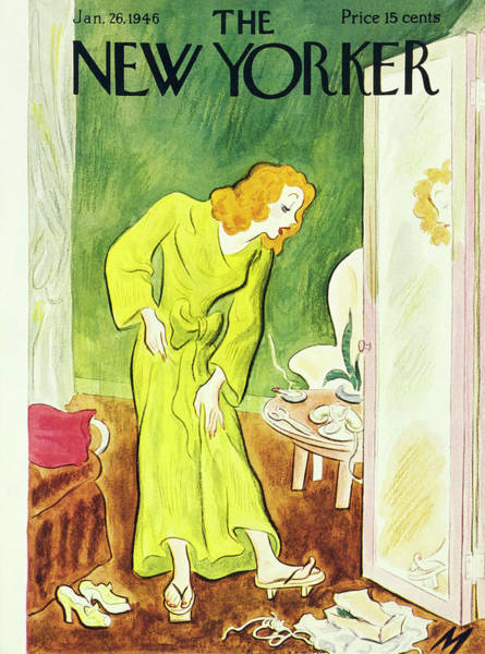 Shoe Painting - New Yorker January 26th 1946 by Julian De Miskey