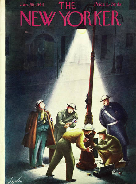 Wwii Painting - New Yorker January 30th 1943 by Constantin Alajalov