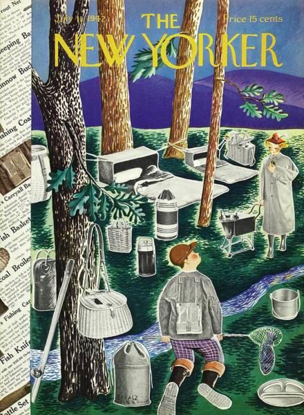 Dinner Painting - New Yorker July 11th 1942 by Ilonka Karasz