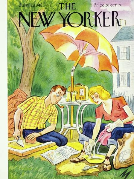 Table Painting - New Yorker July 12th 1947 by Julian De Miskey