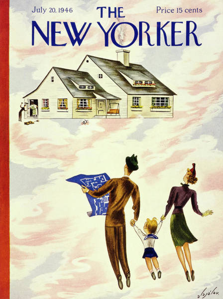 Parents Painting - New Yorker July 20th 1946 by Constantin Alajalov