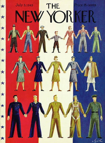 America Painting - New Yorker July 3rd 1943 by Constantin Alajalov