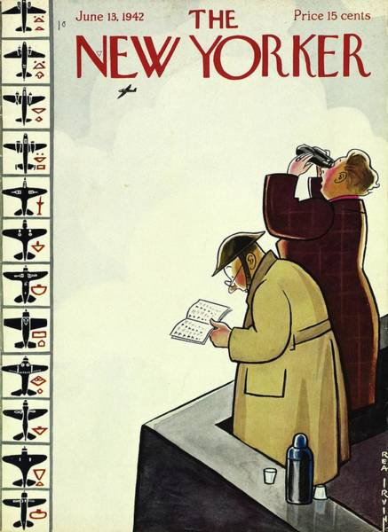 Book Painting - New Yorker June 13th 1942 by Rea Irvin