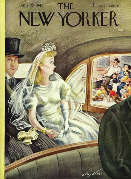 Marriage Painting - New Yorker June 20th 1942 by Constantin Alajalov