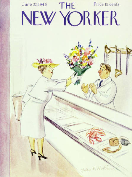 Deli Painting - New Yorker June 22nd 1946 by Helene E Hokinson