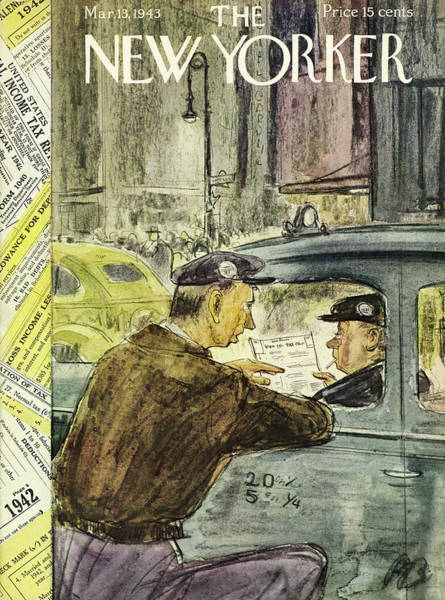 Government Painting - New Yorker March 13th 1943 by Perry Barlow