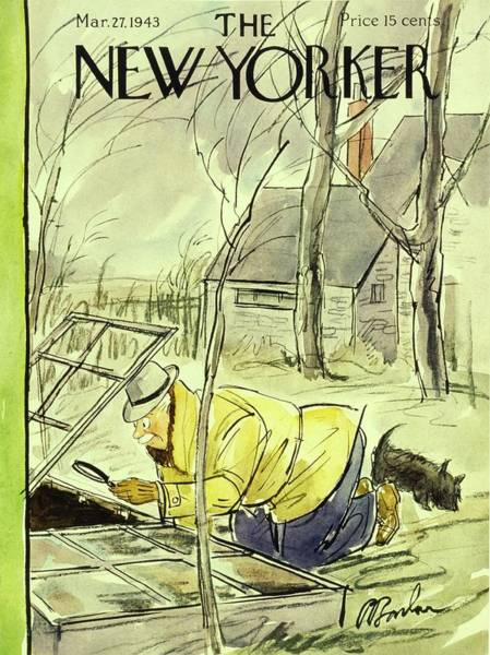March 27th Painting - New Yorker March 27th 1943 by Perry Barlow