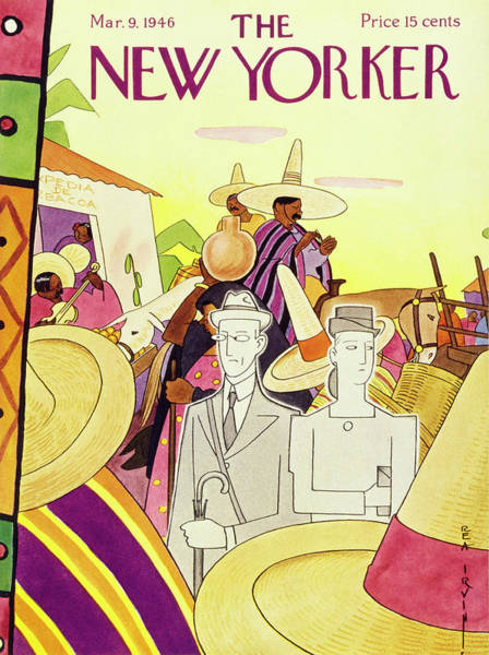 America Painting - New Yorker March 9th 1946 by Rea Irvin